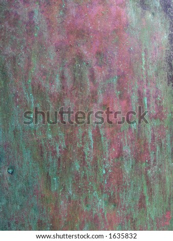Copper Patina Surface - stock photo