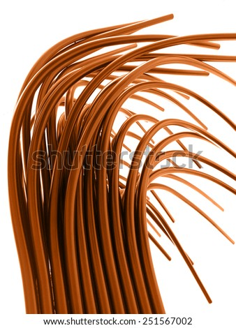 Copper Tubes - stock photo