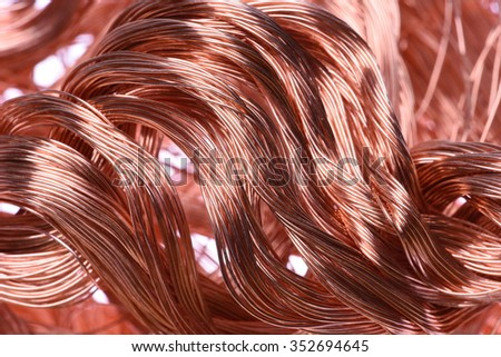 Copper Wire Industrial Raw Materials Stock Photo 352694645 ...