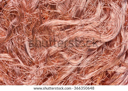 Copper Wire Industrial Raw Materials Stock Photo 366350648 ...