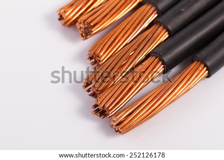 Copper Wire Isolated On White Stock Photo (100% Legal Protection ...