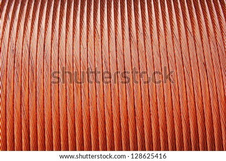 Copper wires wallpaper background - stock photo