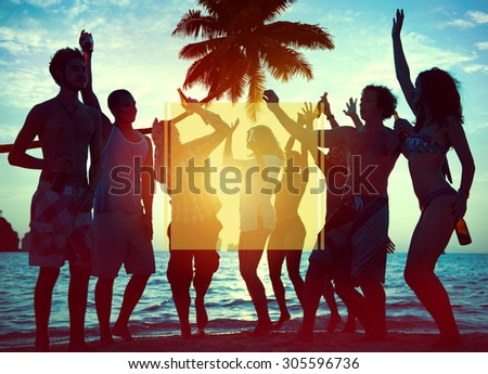 Copy Space Frame Summer Vacation Holiday Concept - stock photo