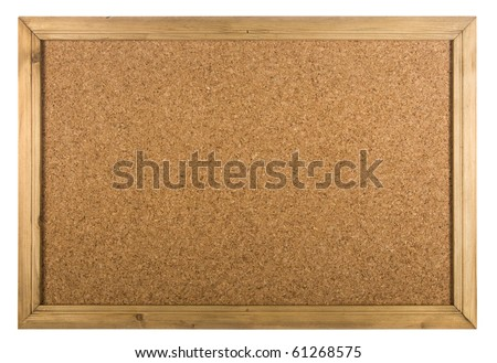 Copy SpaceCork Board on isolated white - stock photo