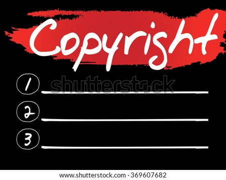 Copyright Blank List concept background - stock photo