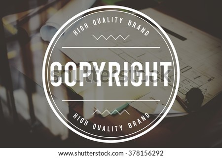 Copyright Brand Marketing Identity Concept - stock photo