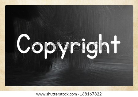 copyright concept - stock photo