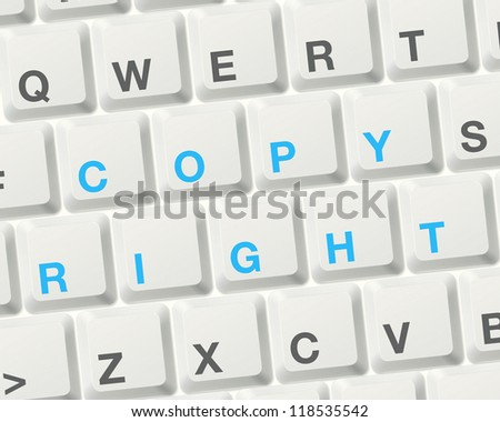 copyright concept. word on computer keyboard to illustrate the concepts. - stock photo