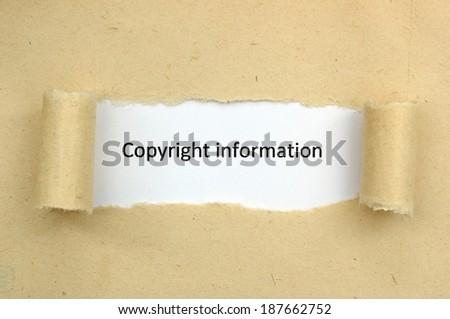 Copyright information - stock photo