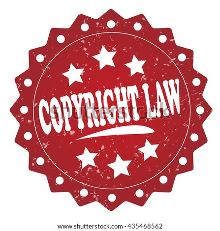 copyright law Grunge stamp - stock photo