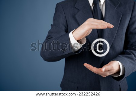 Copyright, patents and intellectual property protection law and rights.  - stock photo