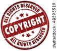 Copyright stamp - stock vector