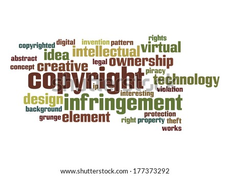 Copyright word cloud - stock photo