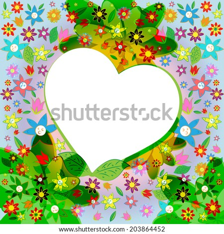 Copyspace Heart Showing Valentine Day And Lovers - stock photo