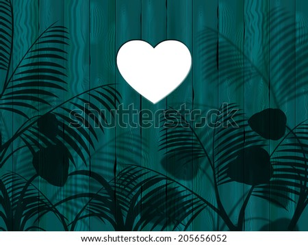 Copyspace Panelling Meaning Valentine's Day And Affection - stock photo