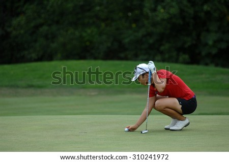 COQUITLAM, CANADA - AUGUST 23, 2015: World's No.2   Lydia Ko of New Zealand won the LPGA Canadian Pacific Women's Open golf tournament  at the Vancouver Golf Club in Coquitlam, Canada, Aug. 23, 2015.