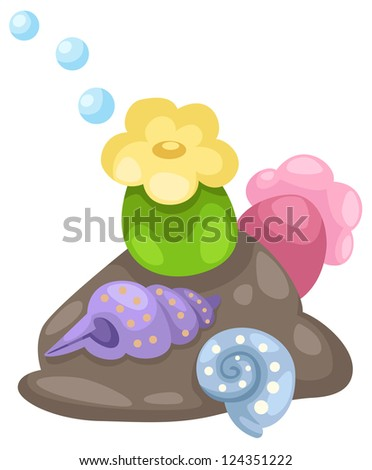 coral and shells .JPG (EPS vector version id 117310408,format also available in my portfolio) - stock photo