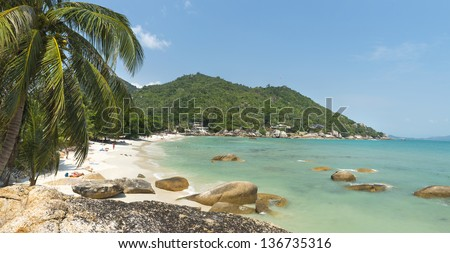 Coral Cove beach view at Koh Samui Island Thailand - stock photo