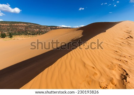 Coral Pink Sand Dunes - stock photo