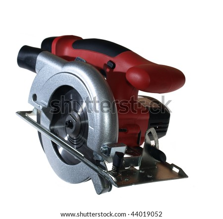 Cordless circular saw isolated on white