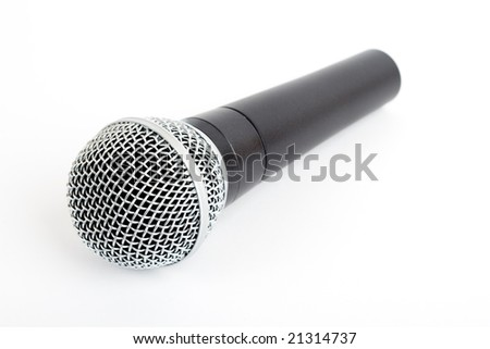 Cordless microphone isolated on white.