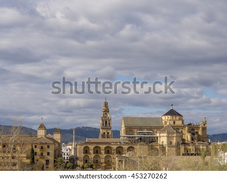 CORDOBA - FEB 25: Historic centre and Mosque Cathedral view on February 25, 2016 in Cordoba, Andalusia, Spain. This site is declared World Heritage Unesco.
