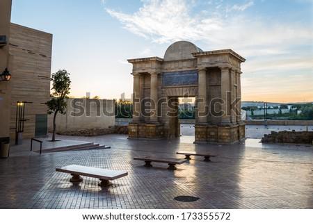 Cordoba's bridge gate - stock photo