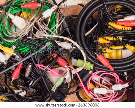 cords and wires background