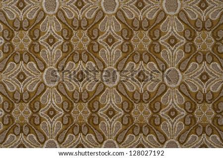 Corduroy background, ornamental fabric texture - stock photo