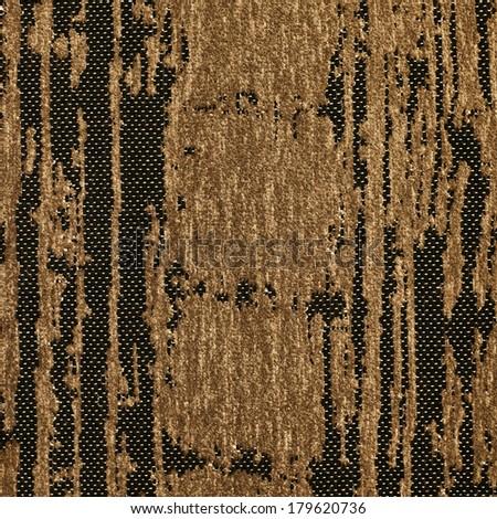 Corduroy outworn brown cloth texture fragment - stock photo