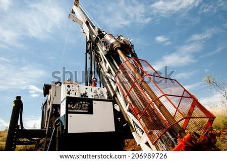 Core Drilling for Exploration - Pilbara - Australia - stock photo