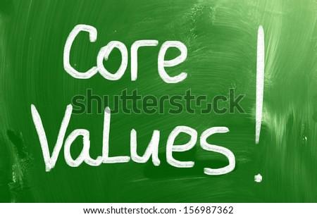 Core Values Concept - stock photo