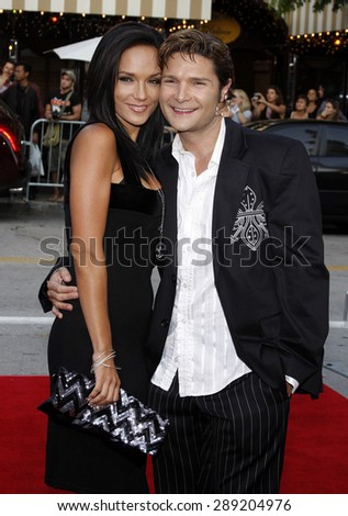 Corey Feldman and Susie Feldman at the Los Angeles premiere of 'Step Brothers' held at the Mann Village Theater in Westwood on July 15, 2008.