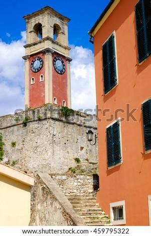 Corfu old fortress architecture - stock photo