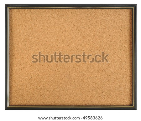 Cork board. Isolated