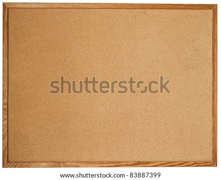 Cork board isolated on white - stock photo
