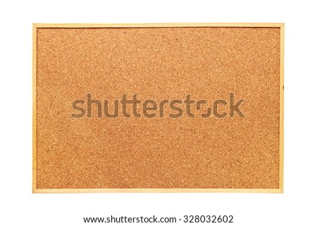 cork board isolated over white background, ready for your message - stock photo