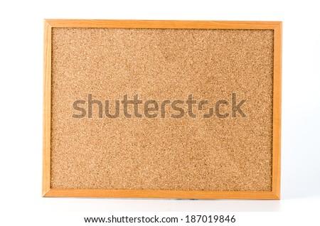 Cork board isolated white background - stock photo