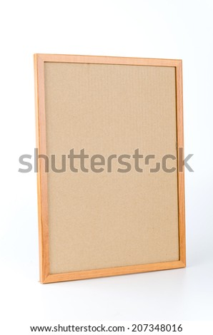 Cork board isolated white background