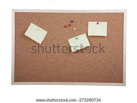 Cork board on white background - stock photo