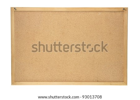 Cork Board on White Background - stock photo
