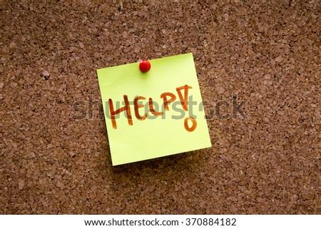 Cork Board /Sticky Note - stock photo