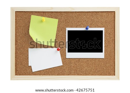 Cork board with design elements