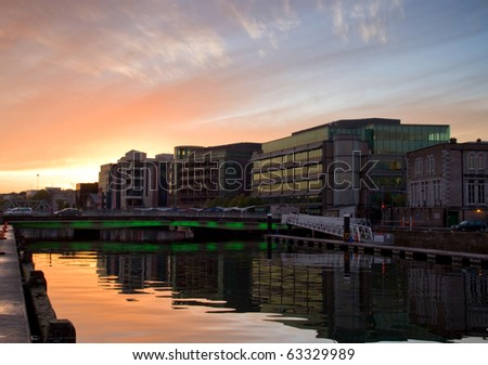 Cork city scenery at sunset - Ireland