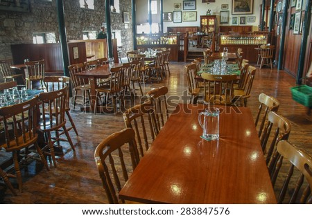 CORK, IRELAND - JUNE 20, 2008:  Tasting hall in museum of Irish whiskey. The Jameson Heritage Centre  in Midleton Co. Cork, 12 miles east of Cork City on the main Cork Waterford Road 