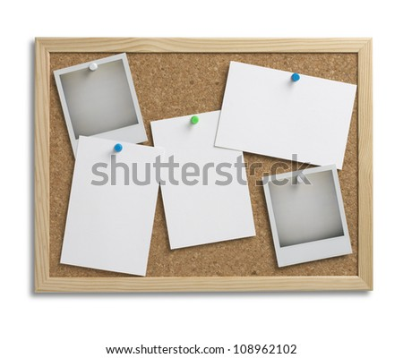 cork notice board with copy space with clipping path 1 - stock photo