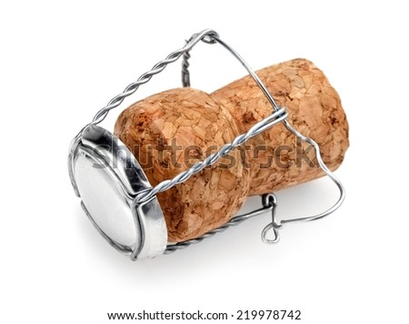 Cork of champagne with cork - stock photo