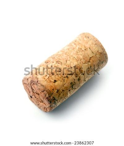 Cork over white background - stock photo
