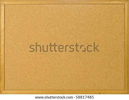 Cork posting board blank - stock photo