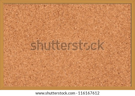 Corkboard with paper notes, memo stickers and polaroid photos - stock photo